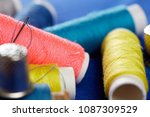 diy concept. sewing supplies ... | Shutterstock . vector #1087309529