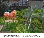 bright orange horse from the... | Shutterstock . vector #1087309979