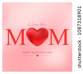 mothers day vector illustration | Shutterstock .eps vector #1087318901
