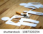 paper dolls  parents  sons. the ... | Shutterstock . vector #1087320254