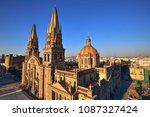 guadalajara cathedral ... | Shutterstock . vector #1087327424