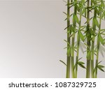 chinese retro style bamboo... | Shutterstock .eps vector #1087329725