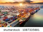 logistics and transportation of ... | Shutterstock . vector #1087335881