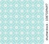 abstract seamless circular link ... | Shutterstock .eps vector #1087339697
