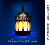 intricate arabic lamp with...   Shutterstock .eps vector #108734255