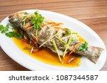 chinese cantonese cuisine  ... | Shutterstock . vector #1087344587