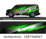 car wrap design vector.... | Shutterstock .eps vector #1087348367