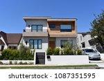 house in high tech style.... | Shutterstock . vector #1087351595