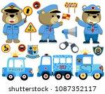 Vector Set Of Police Cartoon...