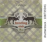 vintage label with a picture of the deer