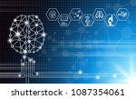 abstract background technology... | Shutterstock .eps vector #1087354061