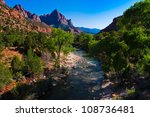 beautiful landscape of zion... | Shutterstock . vector #108736481