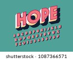vector of modern bold font and... | Shutterstock .eps vector #1087366571