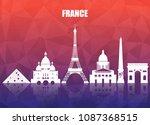 france landmark global travel... | Shutterstock .eps vector #1087368515