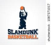 basketball sport silhouette...   Shutterstock .eps vector #1087371017