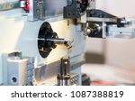cnc coil sporing making machine ... | Shutterstock . vector #1087388819