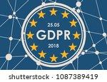 acronym gdpr   general data... | Shutterstock .eps vector #1087389419