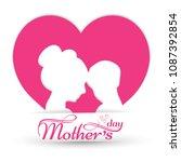 mother's day typographic design ... | Shutterstock .eps vector #1087392854