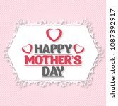mothers day typogrpahic card... | Shutterstock .eps vector #1087392917