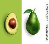 avocado. vector illustration | Shutterstock .eps vector #1087395671