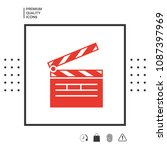 clapperboard icon symbol | Shutterstock .eps vector #1087397969