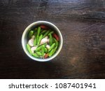 chili and garlic  the hot side... | Shutterstock . vector #1087401941