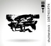 black brush stroke and texture. ...   Shutterstock .eps vector #1087401974
