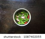 chili and garlic  the hot side... | Shutterstock . vector #1087402055