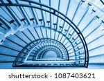 spiral staircase closeup  view... | Shutterstock . vector #1087403621