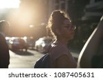 a tourist lady was about to... | Shutterstock . vector #1087405631