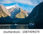 mountain and glacier view from... | Shutterstock . vector #1087409675