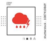 cloud thunderstorm lightning... | Shutterstock .eps vector #1087410869