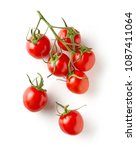 fresh raw tomatoes isolated on... | Shutterstock . vector #1087411064