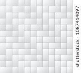 white tiles seamless vector... | Shutterstock .eps vector #1087414097