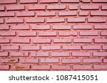 Painted Pink Bricks Wall...