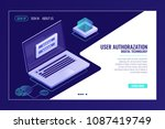 user sign up or sign in page ... | Shutterstock .eps vector #1087419749