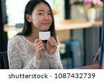 online payment  women hands...   Shutterstock . vector #1087432739