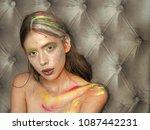 beauty  fashion look beauty...   Shutterstock . vector #1087442231