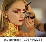 beauty model getting art make...   Shutterstock . vector #1087442285