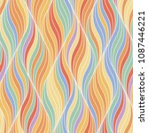 coloring abstract wave stylish... | Shutterstock .eps vector #1087446221