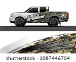 pickup truck graphic vector.... | Shutterstock .eps vector #1087446704