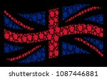 waving uk state flag... | Shutterstock .eps vector #1087446881