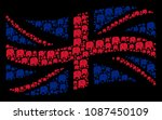 waving united kingdom state... | Shutterstock .eps vector #1087450109