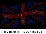 waving uk official flag pattern ...   Shutterstock .eps vector #1087451501