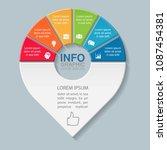 vector infographic template for ...   Shutterstock .eps vector #1087454381