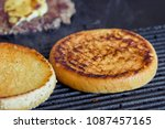 toasted burger for a hamburger. ...   Shutterstock . vector #1087457165