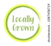 locally grown food icon ... | Shutterstock .eps vector #1087458719
