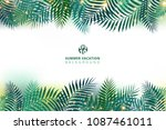 summer time vacation and green... | Shutterstock .eps vector #1087461011