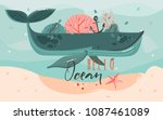 hand drawn vector abstract... | Shutterstock .eps vector #1087461089