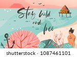 hand drawn vector abstract... | Shutterstock .eps vector #1087461101